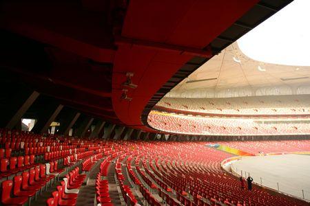 deportes olimpicos: Asientos Roja en China ol�mpica del Estadio Nacional (Nido de P�jaro), Beijing