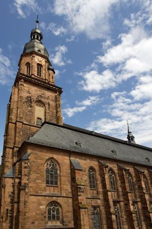 Heiliggeistkirche in the town of Heidelberg, Germany photo