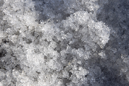 wintriness: Snow with ice like a glass and crystal in early spring