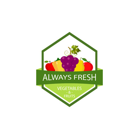 Fruit and vegetables logo template