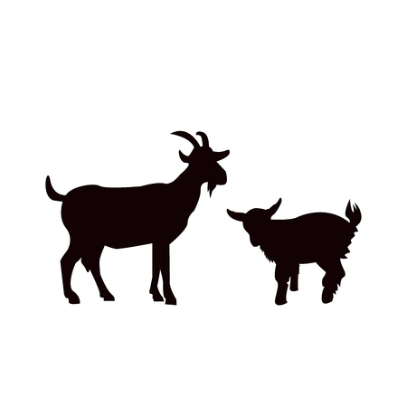 goat animal farm icon isolated on white background.