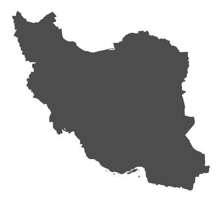 Iran map in gray on a white background