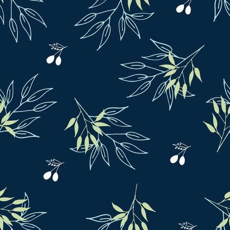 Unique handdrawn floral seamless pattern. Good for wallpaper, pattern fills, web page background,surface textures