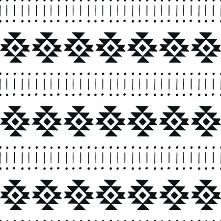 Unique hand drawn seamless pattern with abstract shapes vector illustration in Scandinavian style. Illustration