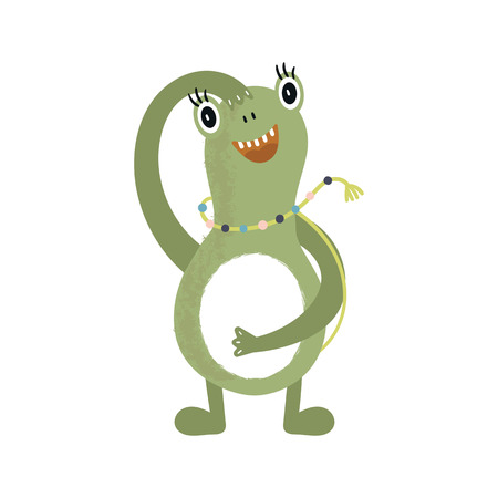 Funny nursery poster with cute monster