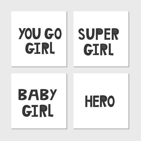 Collection of superhero black and white hand drawn lettering. Vector illustration set. Stock fotó - 149623090