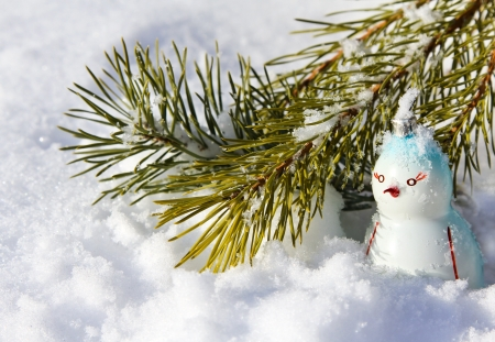 Penguin, Christmas decoration Stock Photo