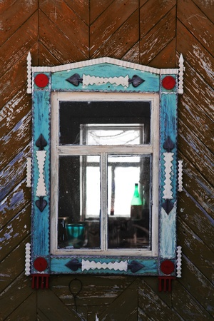 Old window and botle