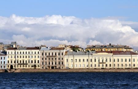 Embankment in St  Petersburg Stock Photo