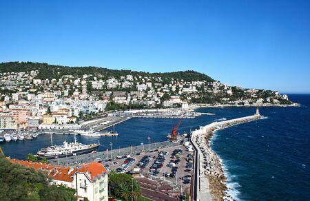 Sea port in Nice Stock Photo