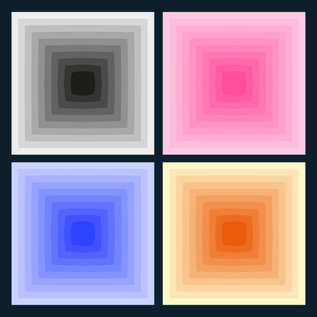 Optical illusion background Illustration