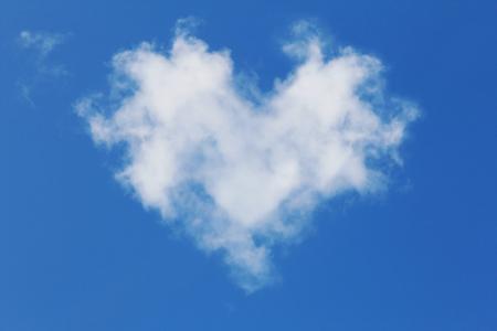 White cloud in a shape of heart