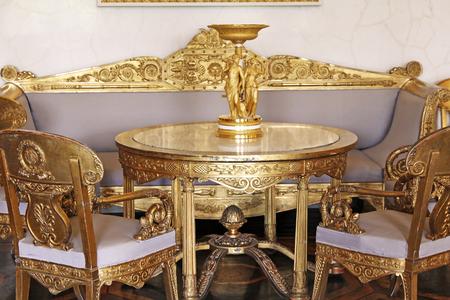 Furniture in the Russian Museum in Saint Petersburg Editorial