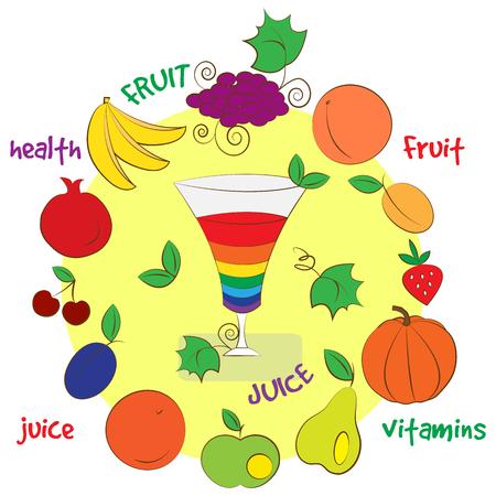 Glass of fruit juice