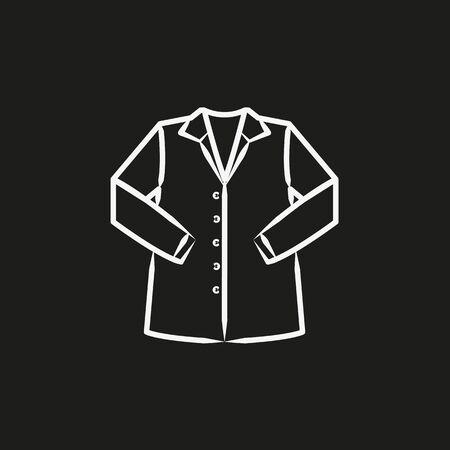Shirt sketch icon vector illustration Illustration