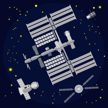 International Space Station vector illustration Иллюстрация