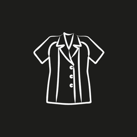 Blouse sketch icon vector illustration
