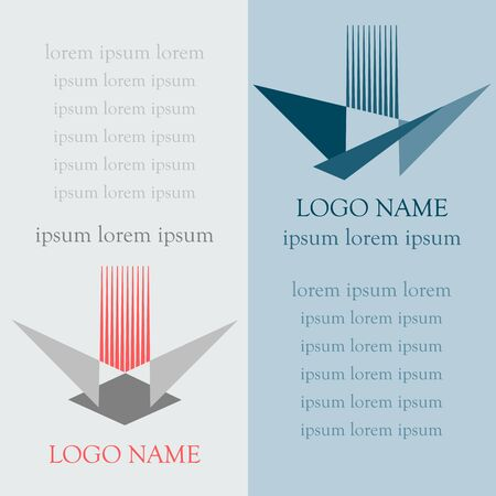 Logo abstract icons in flat style illustration