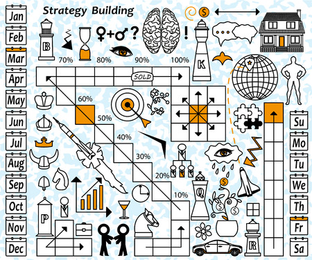 Strategy building concept vector illustration