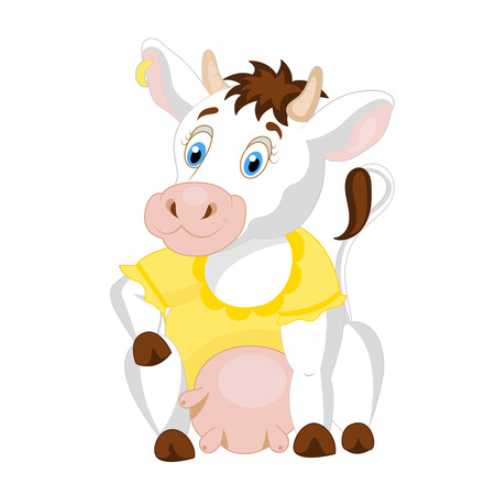 udders: Cute cow vector illustration