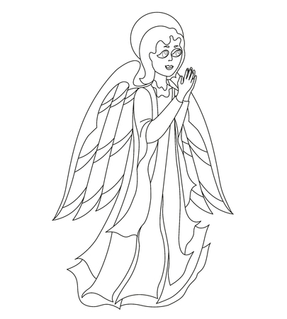 saintly: Lovely angel for coloring book