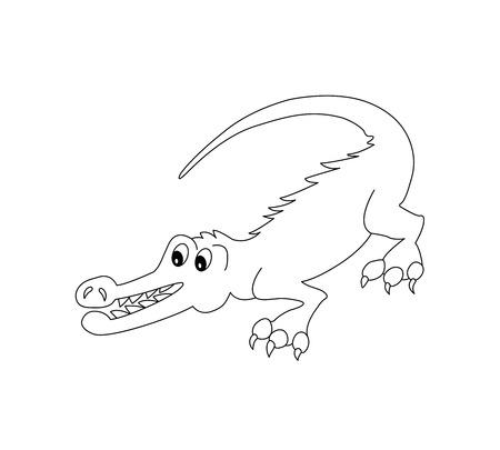 gad: Funny Crocodile for coloring book