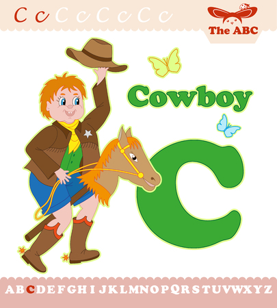 Letter C with cowboy for ABC