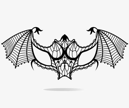 Bat carnival mask