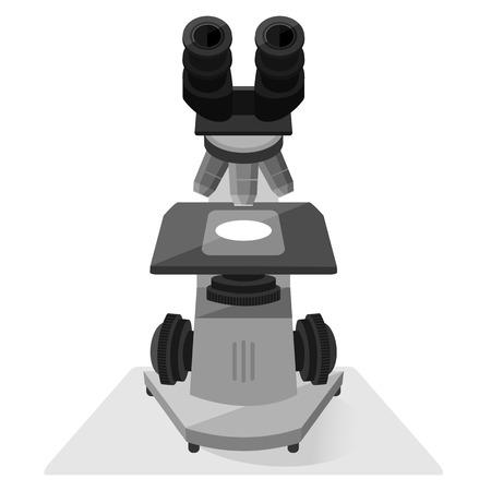 Microscope on white background vector illustration