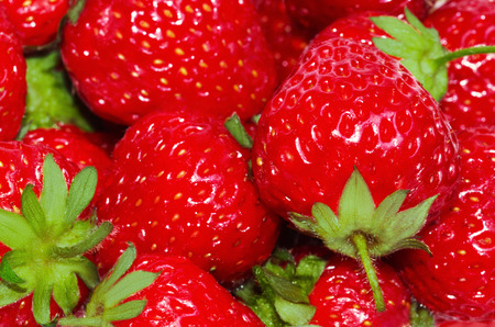 appetizing: the fresh and appetizing strawberries Stock Photo