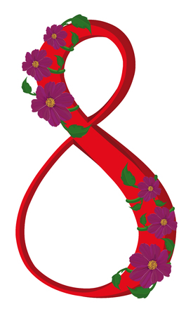 figure of eight: The figure eight decorated flower kosmeya
