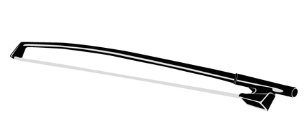 fiddlestick: Fiddle stick for Violin. Isolated object on a white background. Illustration