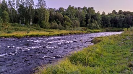 Rapid current with rapids, Pasha river
