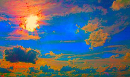 Bright Multicolor Psychodelic Color Mixture Background Stock Photo