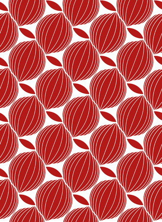 Seamless vector abstract geometric monochromatic modern pattern. Red and white colors. Illustration