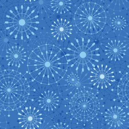 Abstract Snowflakes Seamless Pattern Background Stock Vector - 16356493