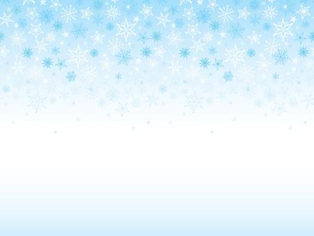 horizontal: Falling Snowflakes Seamless Horizontal Background Illustration