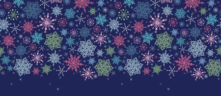 horizontal: Holiday Snowflakes Seamless Horizontal Background