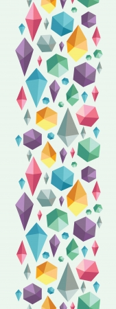 Hanging geometric shapes vertical seamless pattern border Stock Vector - 16356489