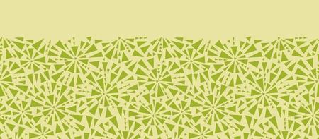 Abstract triangles mosaics horizontal seamless pattern border Stock Vector - 16356491