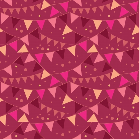 Christmas Decorations Flags Seamless Pattern Background Illustration
