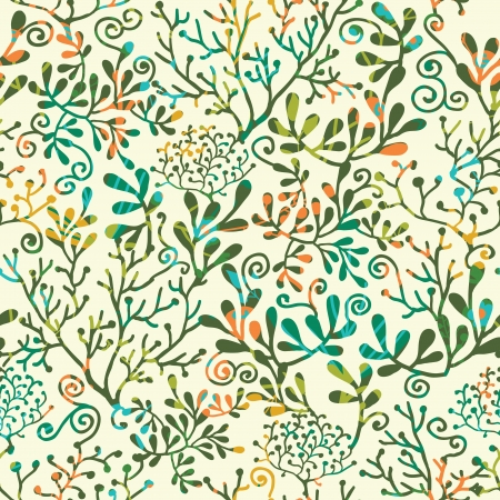 seetang: Textured Pflanzen Nahtlose Muster Hintergrund