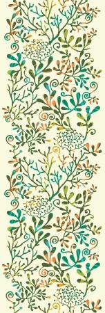 질감 식물 수직 원활한 패턴 배경 장식 일러스트