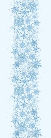 enero: Textura del copo de nieve Frontera Vertical Patr�n sin fisuras Vectores