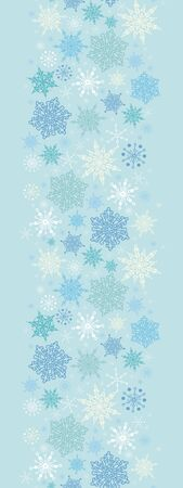 Falling Snow Vertical Seamless Pattern Background Border