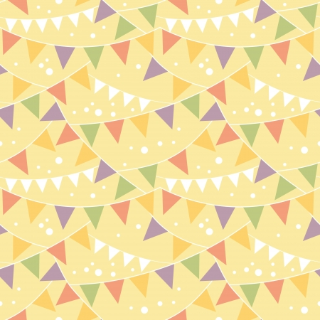 Party Decorations Bunting Seamless Pattern Background Vector