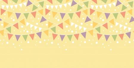 Birthday Decorations Bunting Horizontal Seamless Pattern