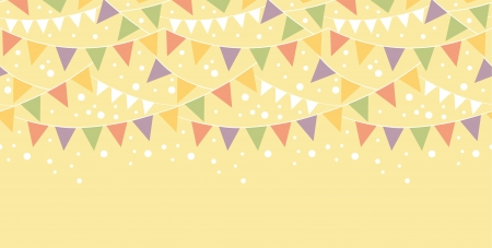 bunting flags: Birthday Decorations Bunting Horizontal Seamless Pattern