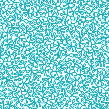 추상 수중 식물 원활한 패턴 배경 일러스트