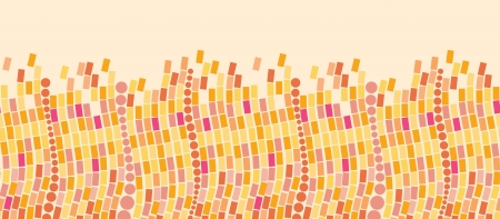 Fire mosaic tiles horizontal seamless pattern background border Vector